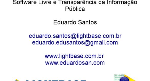 Debate Software Livre e transparência da informação pública