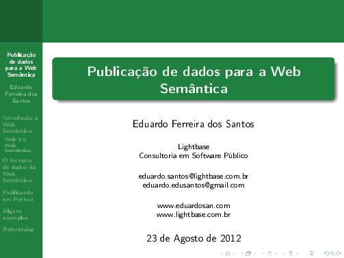 Publicação de dados para a Web Semântica com Python