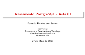 Treinamento PostgreSQL Força Aérea.