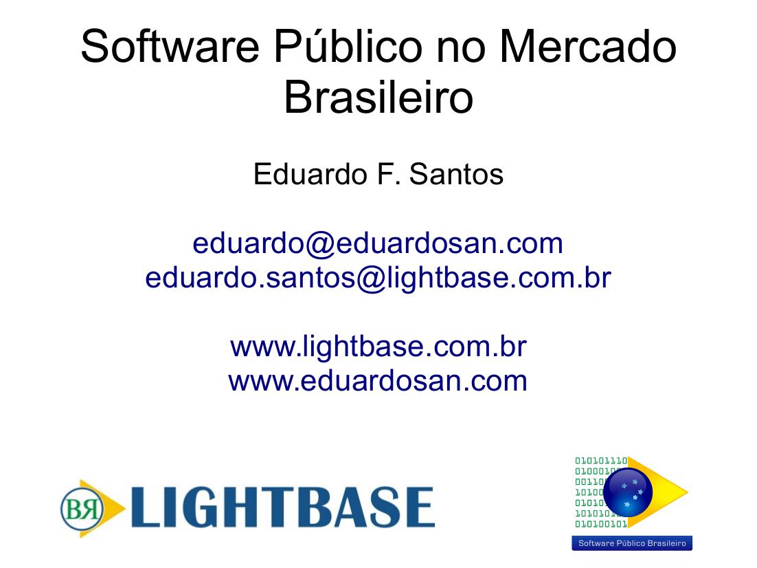 Apresentação Software Público Bolívia